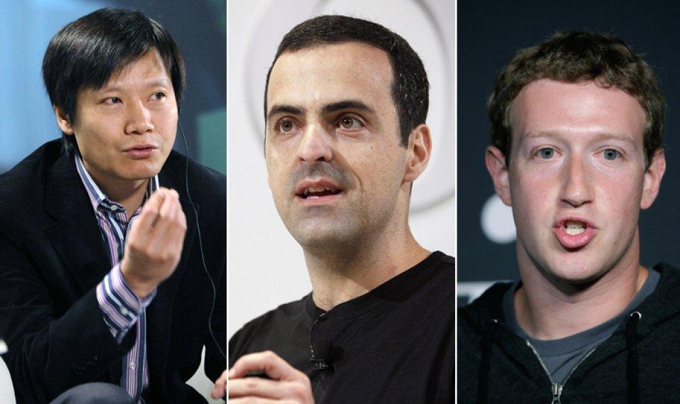 Lei Jun, Hugo Barra e Mark Zuckerberg