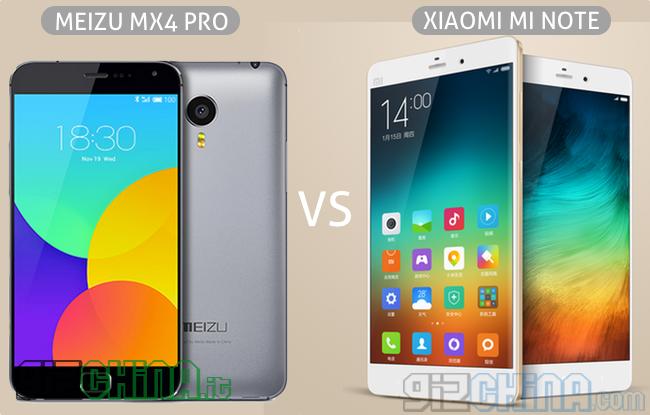 Meizu MX4 Pro vs Xiaomi Mi Note vs Xiaomi Mi Note Pro