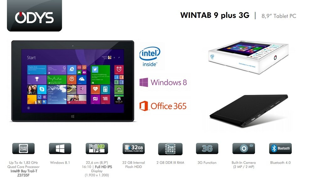 Odys Wintab 9 Plus 3G