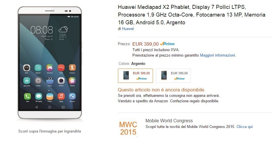 Huawei Mediapad X2 available at pre-order - GizChina it