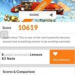 Lenovo K3 Note 3dmark