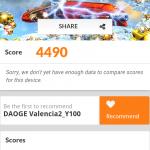 Benchmark con Doogee Valencia 2 Y100