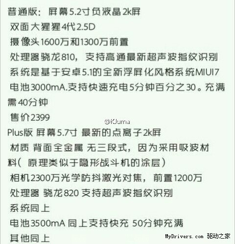 Xiaomi Mi5 MI5 Plus