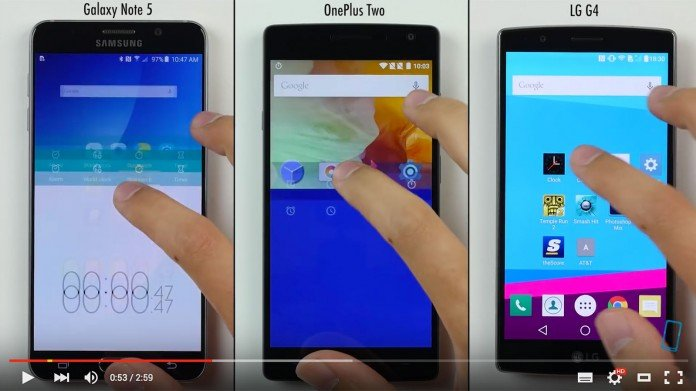 Samsung Galaxy Note 5 vs OnePlus 2 vs LG G4
