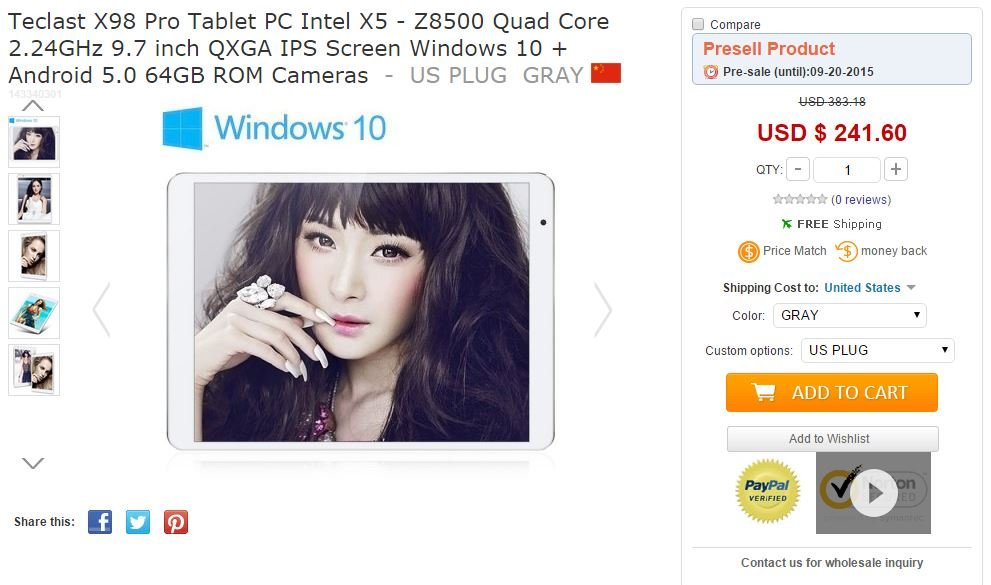 Teclast X98Pro Sale