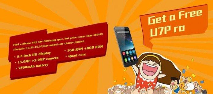 Oukitel U7 PRO Free? Here's how to receive it! - GizChina it