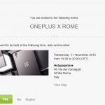 Evento OnePlus X em Roma