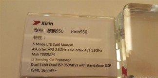 Kirin Hisilicon 950