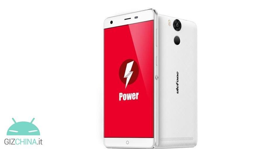 ulefone power ufficiale batteria da 6050 mah e prezzo