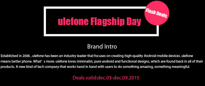 Ulefone flagship day