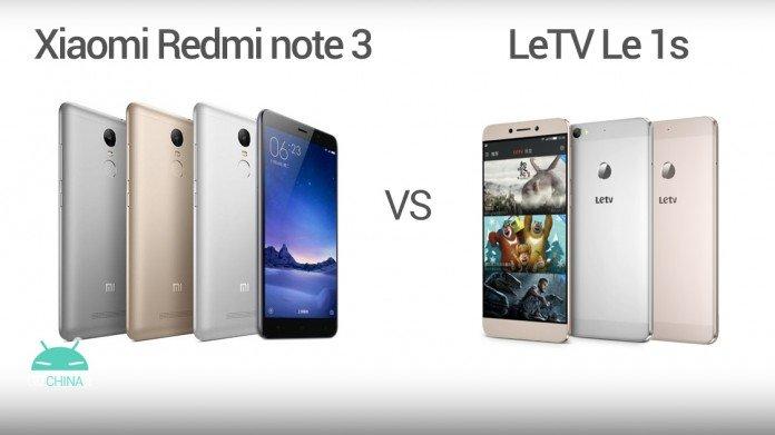 Xiaomi Redmi note 3 vs LeTV Le 1s