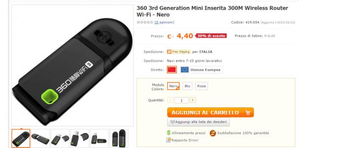 360 3rd Generation Mini Inserita 300M