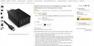 Caribatterie Aukey 3 porte USB