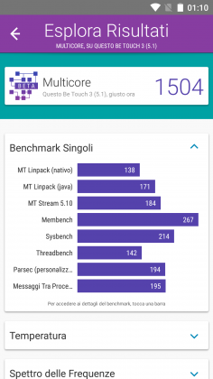 Benchmark Ulefone Be Touch 3