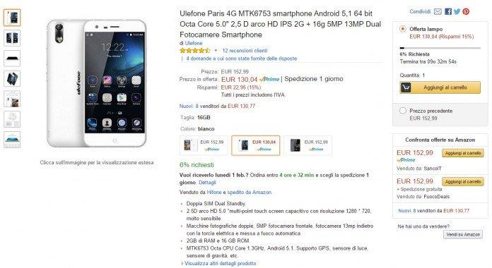 Ulefone Paris Amazon