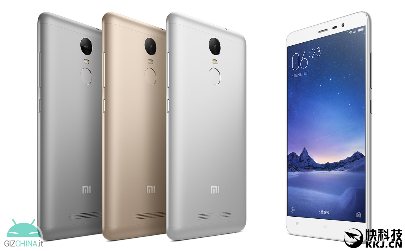Xiaomi Redmi Note 3 Pro: Full Netcom 2 0 and support for VoLTE