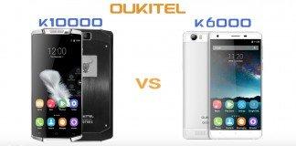 Oukitel K10000 vs k6000
