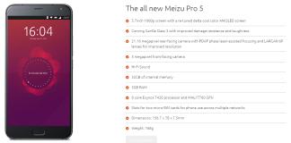 Meizu pro 5 Ubuntu-Edition