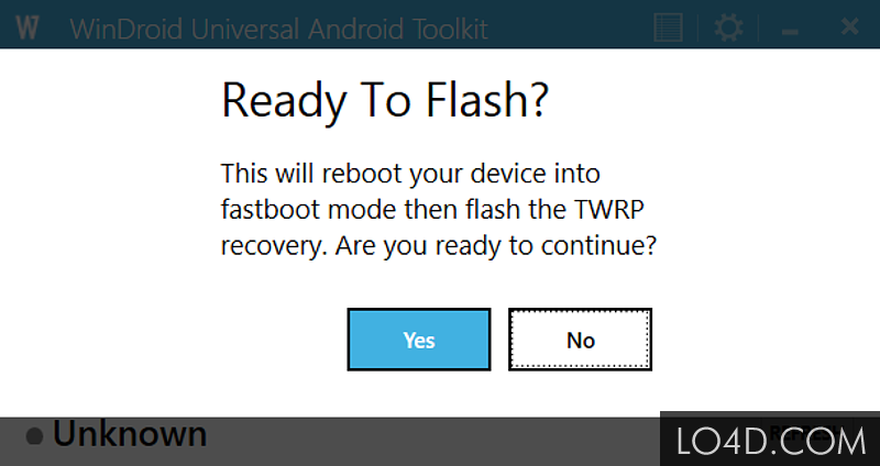 WinDroid Universal: tool to run unlock, root and flash on