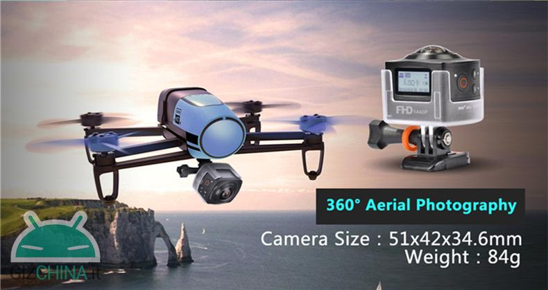 AMKOV AMK100S 360 action camera drone