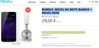 Meizu M2 Note Bianco Meizu HD50 bundle