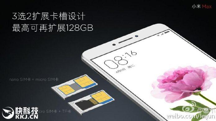Slot Xiaomi Mi Max