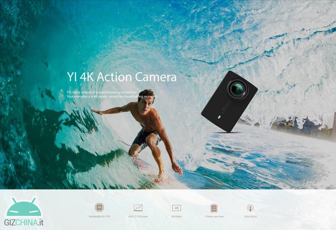 Xiaomi Yi 4K 2 Câmera de ação