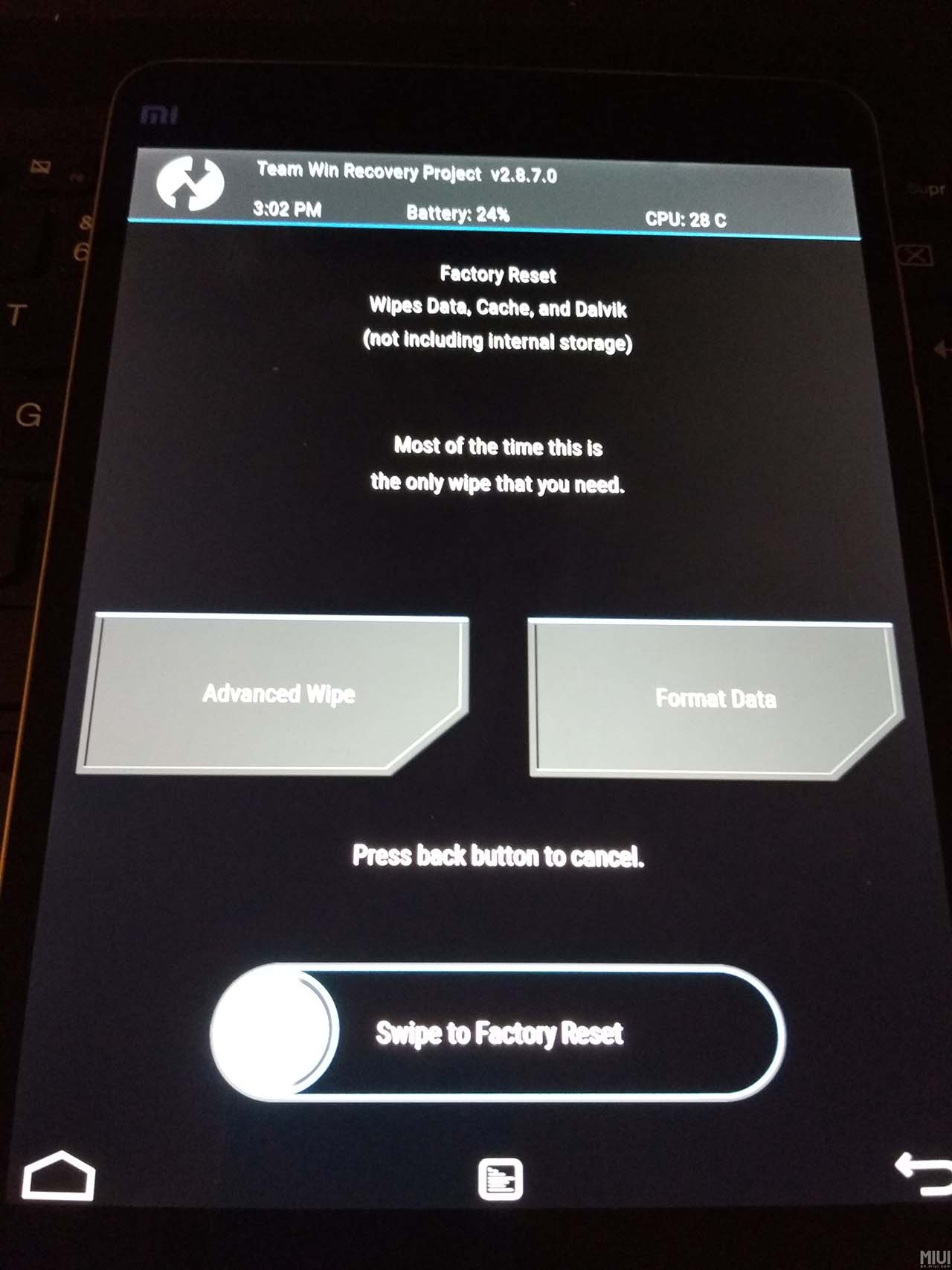 Recovery TWRP Mi Pad2