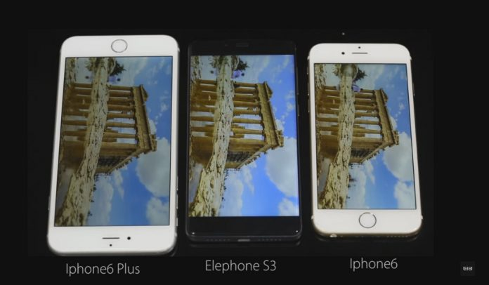 Elephone S3 confronto iPhone 6 e 6 Plus