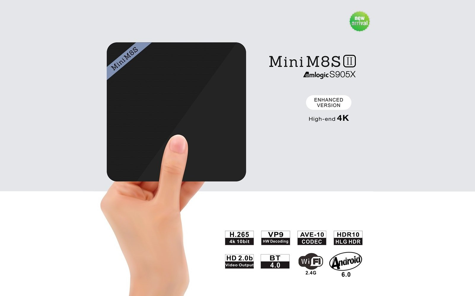 Mini M8S II 4K TV Box on offer at 32 Euro on GearBest | Coupon