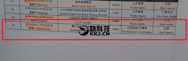 Smartisan T3 7 setembro