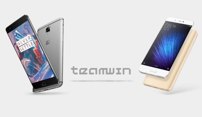 TWRP OnePlus 3 Xiaomi Mi 5