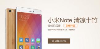 Xiaomi Mi Note substituição de bambu retro grátis