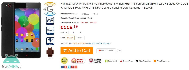 Nubia z7 maksymalna najmocniejsza oferta