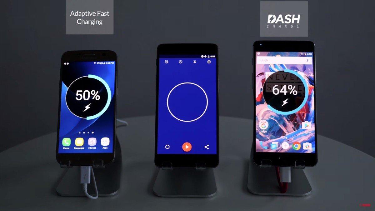 OnePlus-Dash Charge vs Samsung Adaptive Charging