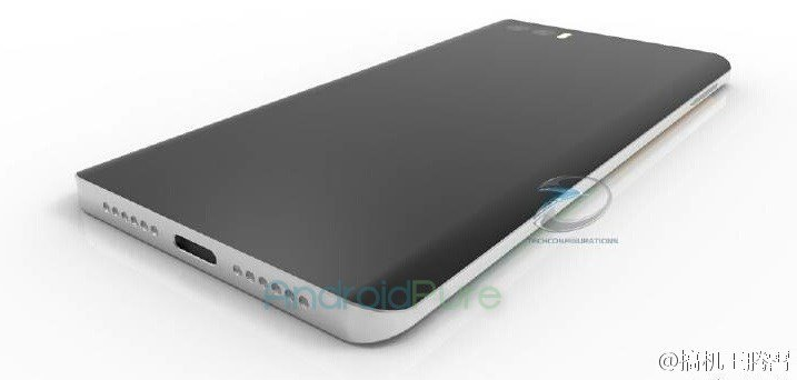 Xiaomi Mi Note 2 render Android Pure