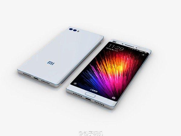 Xiaomi Mi Note 2 renders