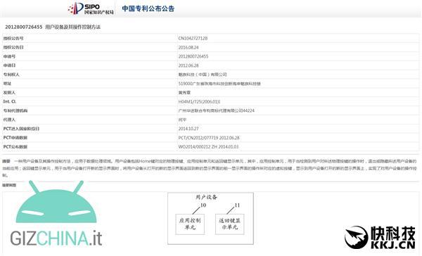 Meizu mBack certificazione brevetto