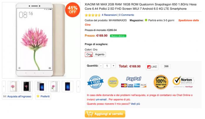 Xiaomi Mi Max 2/16 GB Myefox