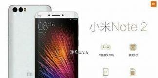 Xiaomi Mi Note 2 rendering dual curved