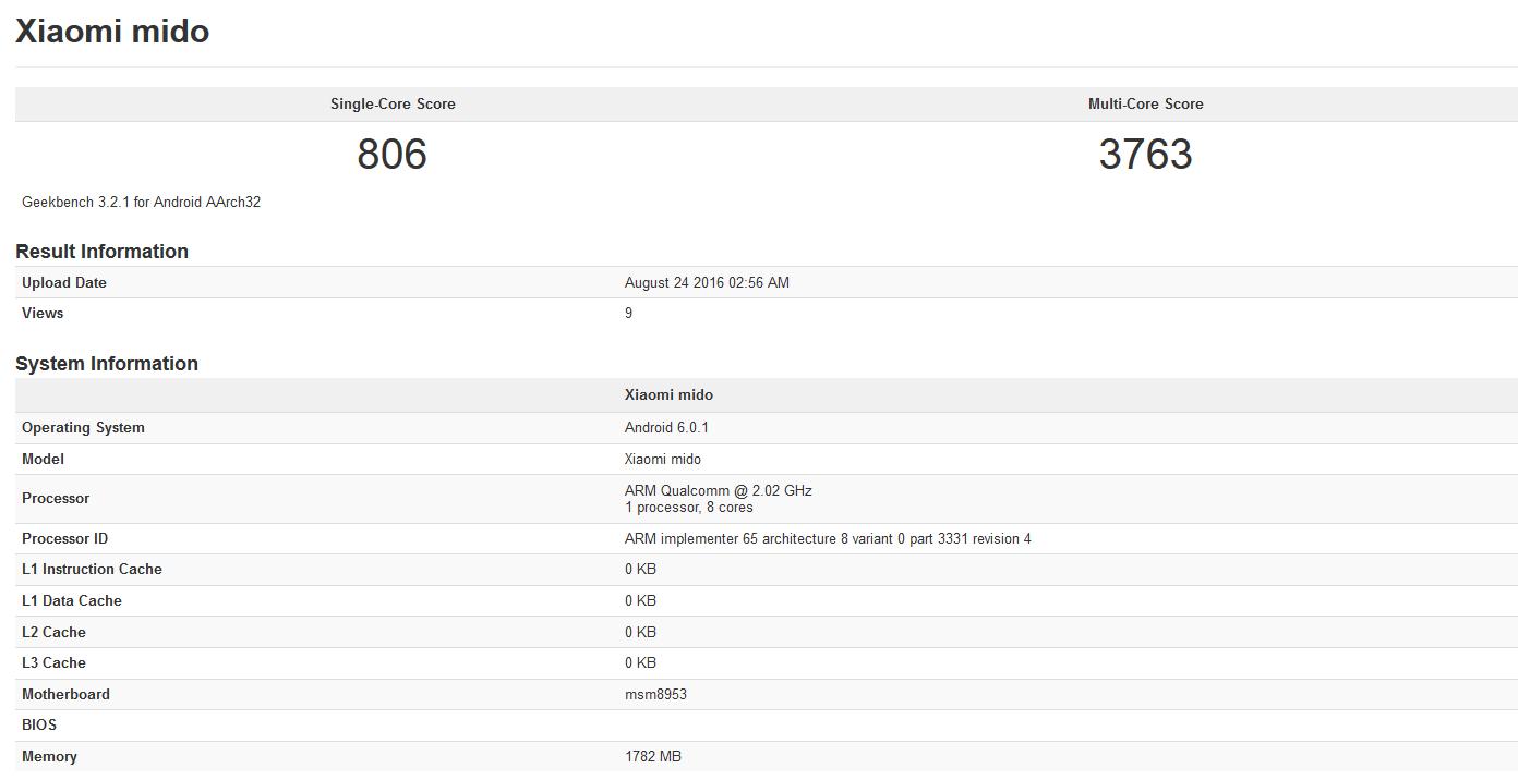 Xiaomi Redmi 4 2 GB RAM