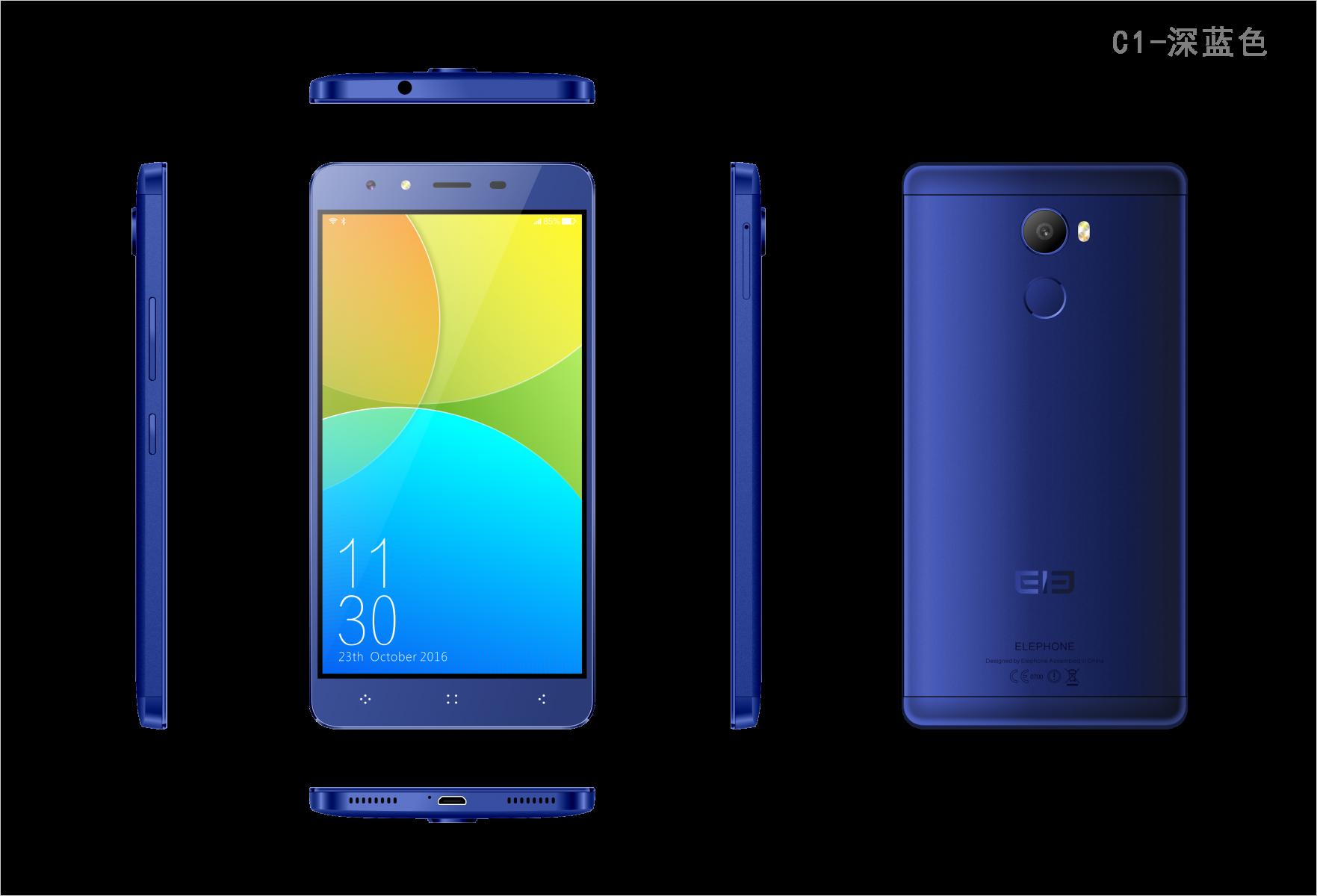 Elephone C1 blu scuro 4