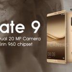 Huawei Mate 9 conferme Kirin 960 doppia fotocamera 20 MP