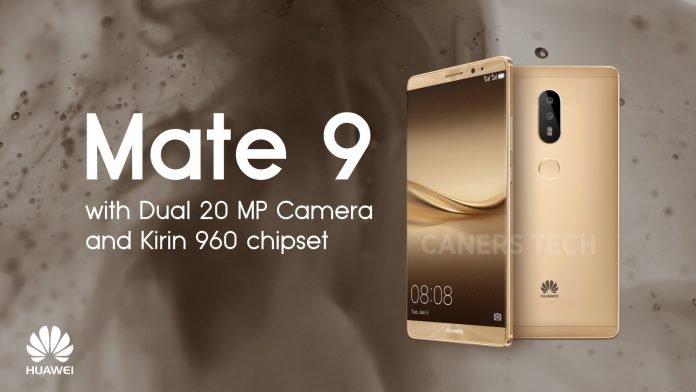 Huawei Mate 9 confirma cámara doble 960 MP Kirin 20