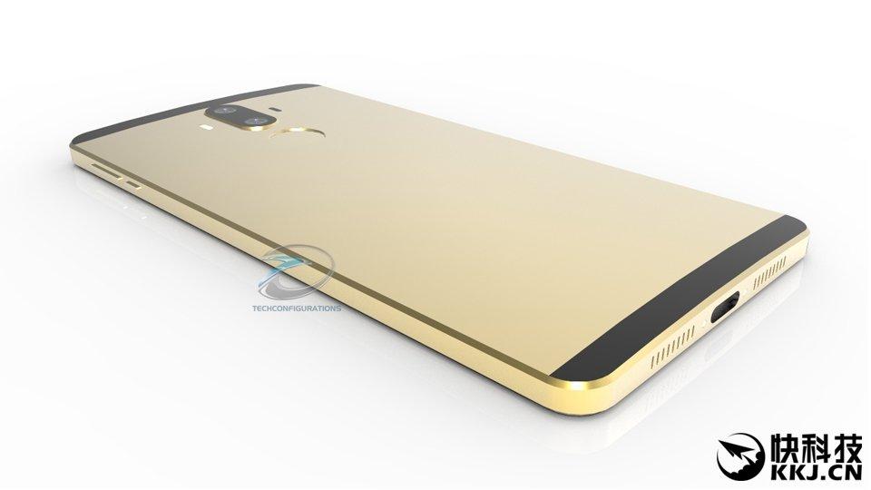 Huawei Mate 9 render 3D
