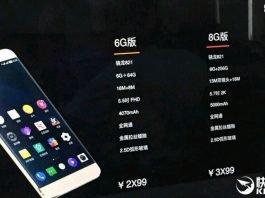 Leeco 3 821 Snap 8 720 GB RAM xXNUMX