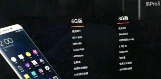 Leeco pro 3 encaixe 821 8 gb ram x720