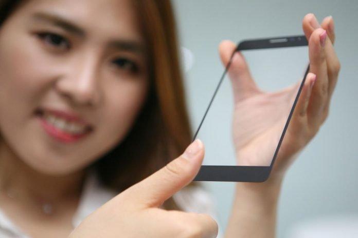 Lettore impronte digitali underglass display