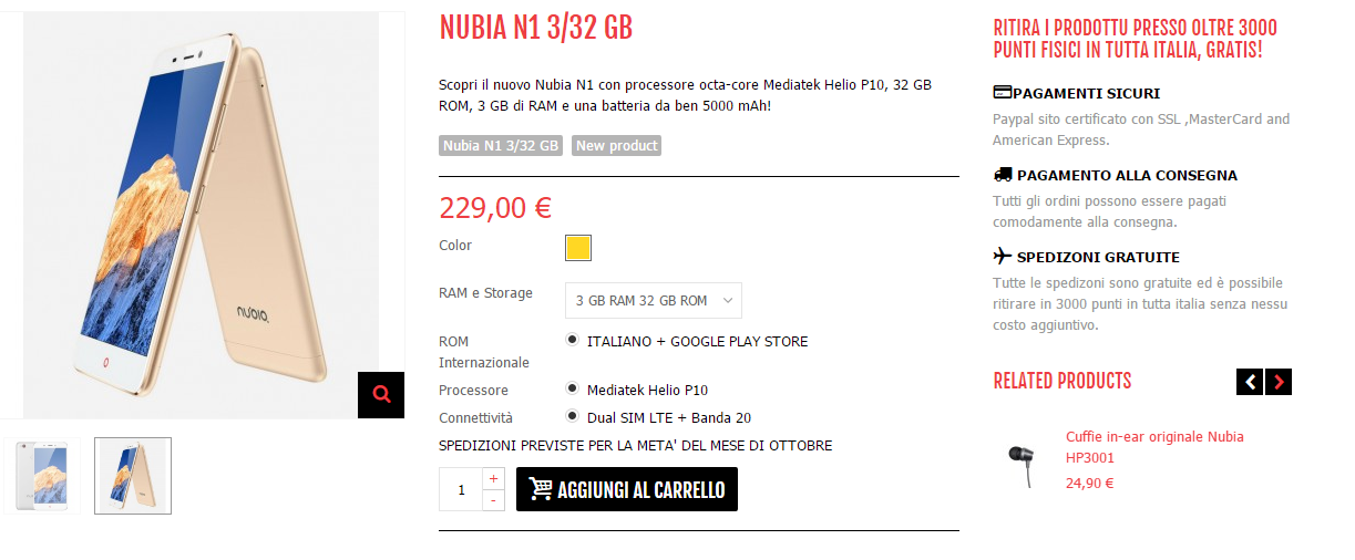 Nubia N1 NubiaMobile.it