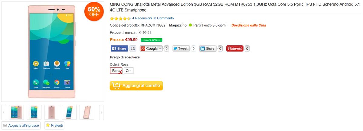 qink cong shallotts metal 89 euro